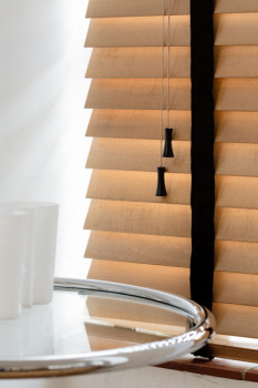 Wooden Blinds Close-up